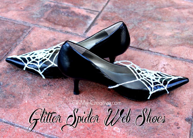 Glitter Spider Web Halloween Shoes 5 - OhMy-Creative.com