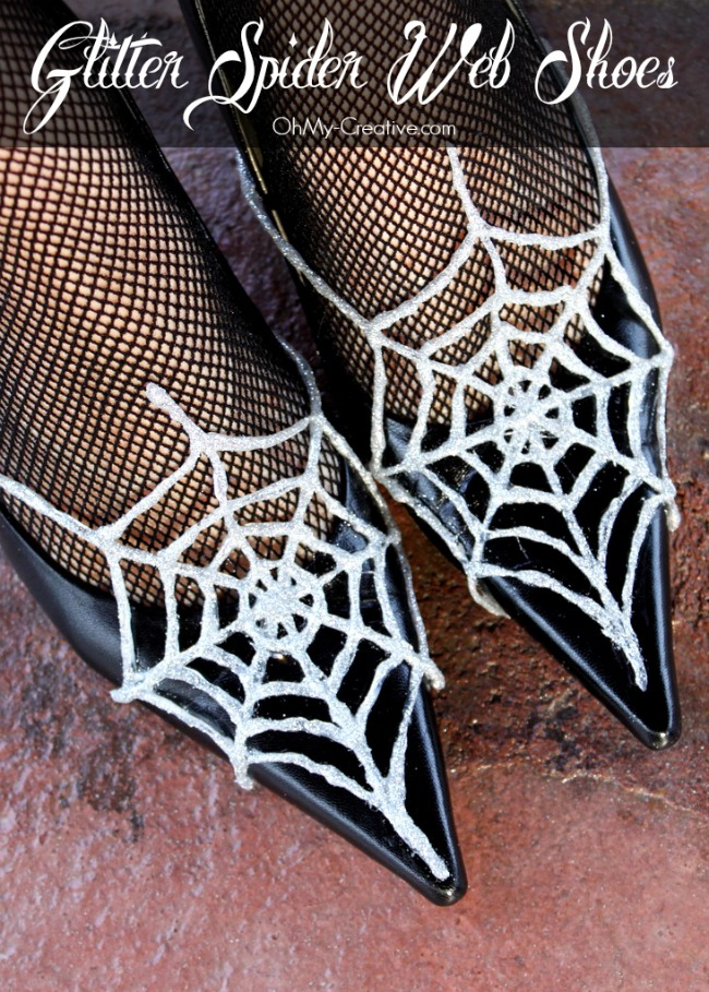 Glitter Spider Web Halloween Shoes - OhMy-Creative.com