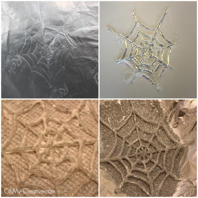 How to make glue gun spider web - ohmy-creative.com