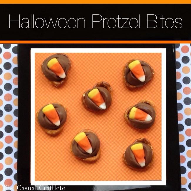 Candy Corn Pretzel Bites 15 Candy Corn Desserts & Crafts - OhMy-Creative.com | Candy Corn Cupcakes | Candy Corn Desserts | Candy Corn Crafts | Halloween Rice Krispie Treats | Halloween Treats | Candy Corn Marshmallows | Candy Corn Recipe