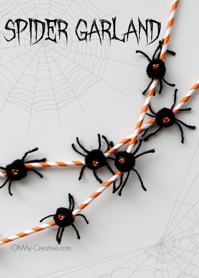 Spider Garland - OhMy-Creative.com
