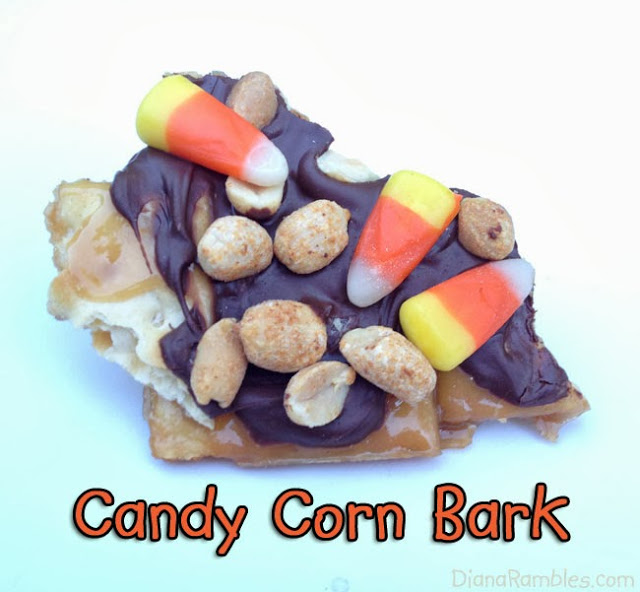 candy corn fall mix toffee bark 15 Candy Corn Desserts & Crafts - OhMy-Creative.com | Candy Corn Cupcakes | Candy Corn Desserts | Candy Corn Crafts | Halloween Rice Krispie Treats | Halloween Treats | Candy Corn Marshmallows | Candy Corn Recipe