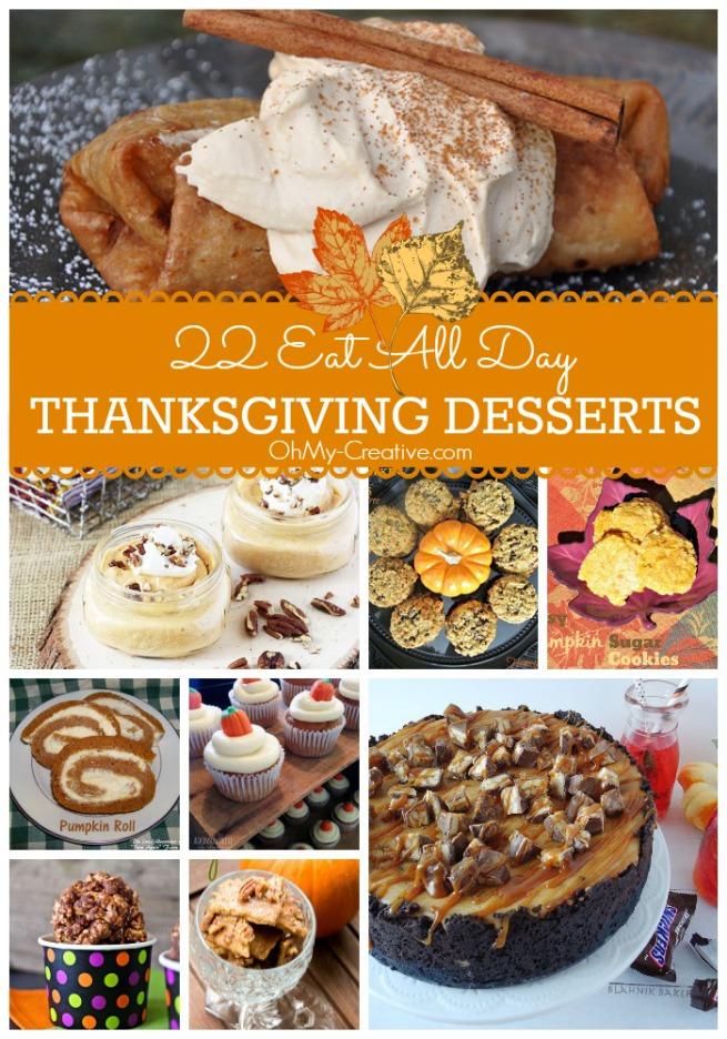 22 Thanksgiving Desserts OhMy-Creative.com