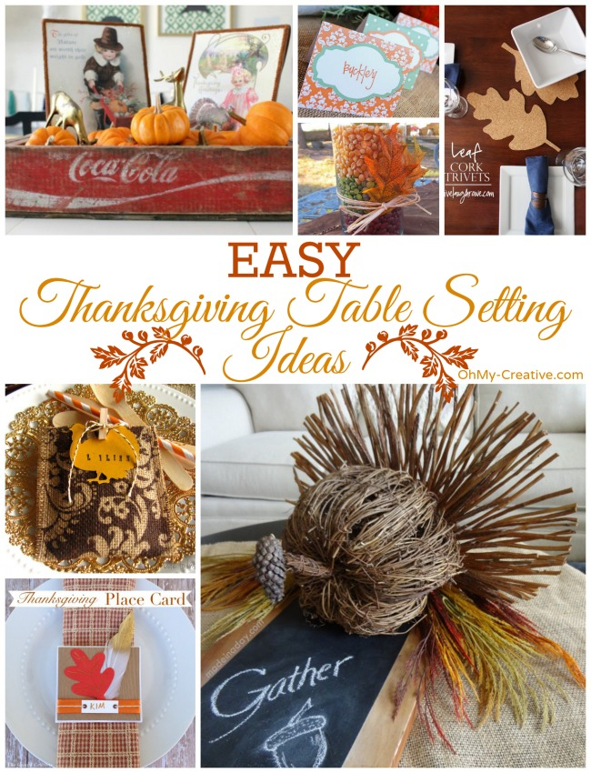 Easy Thanksgiving Table Setting Ideas | OhMy-Creative.com Thanksgiving printable placecards  sc 1 st  Oh My Creative & Easy Thanksgiving Table Setting Ideas - Oh My Creative