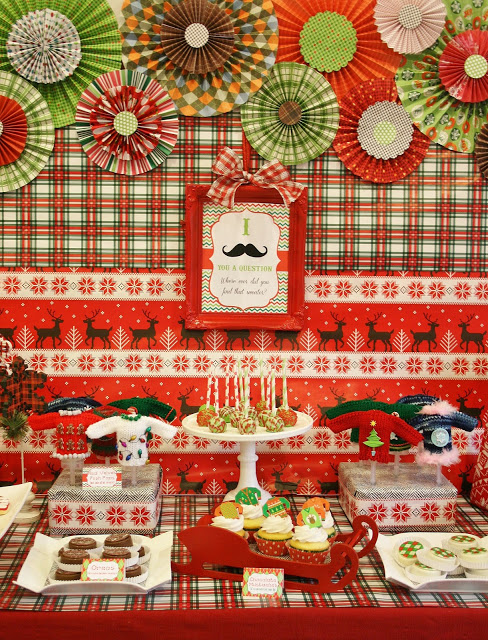 Ugly Christmas Sweater Cookie Dessert Table