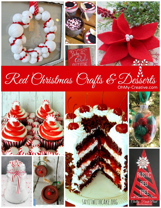 Red Christmas Crafts & Desserts