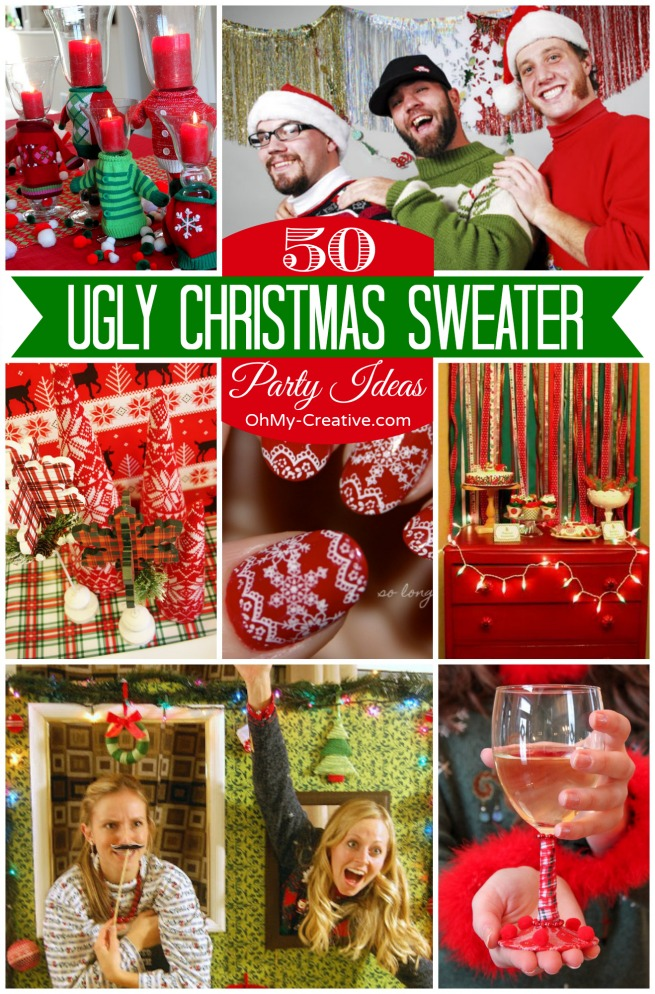 50 Ugly Christmas Sweater Party Ideas , Oh My Creative