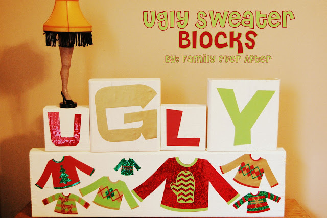 Ugly Sweater Wood Blocks