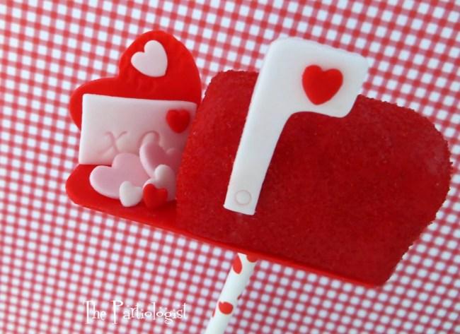 Valentine Mail Box Cake Pops