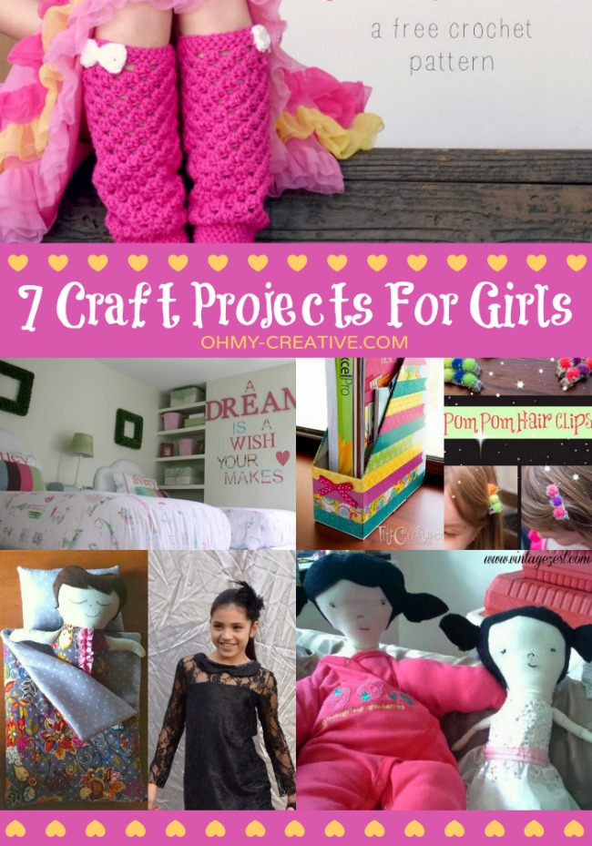 7 Craft Projects For Girls | OHY-CREATIVE.COM