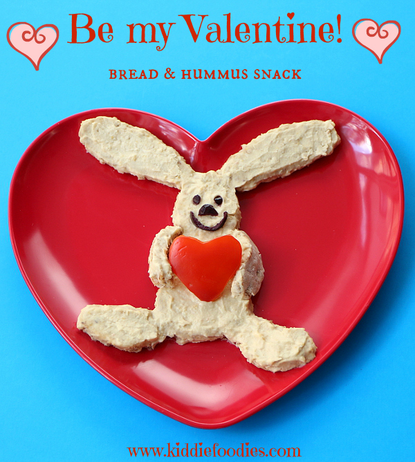 Be-my-Valentine-rabbit-with-a-hear-healthy-snack-for-kids-bread-and-hummus