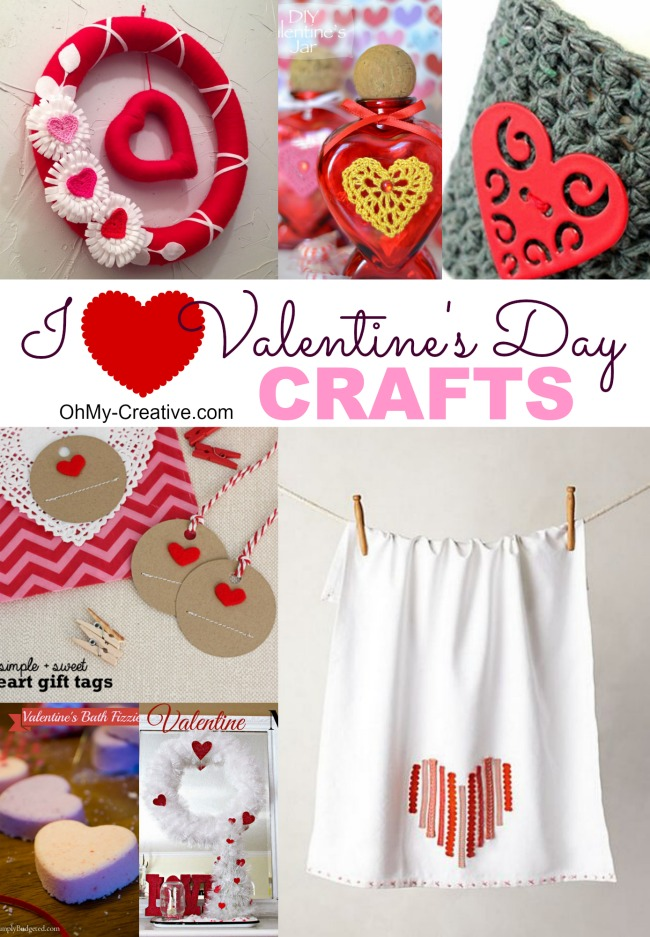 I Heart Valentine's Day Crafts | OHMY-CREATIVE.COM