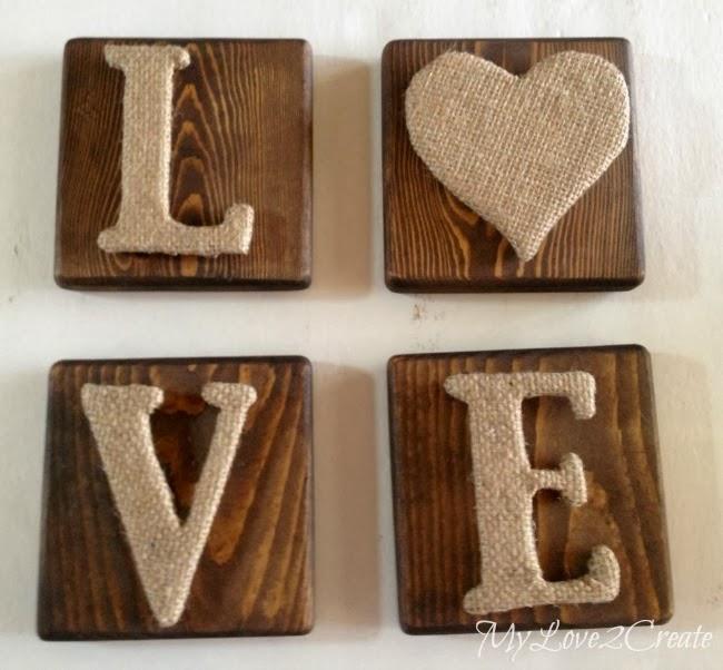 Love Valentine's Day Burlap Sign - MyLove2Create