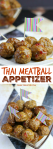 This Thai Meatball Appetizer is delicious Crock Pot dish perfect for any occasion! Great when hosting parties or to take on the go, this dish will deliver! | OHMY-CREATIVE.COM
