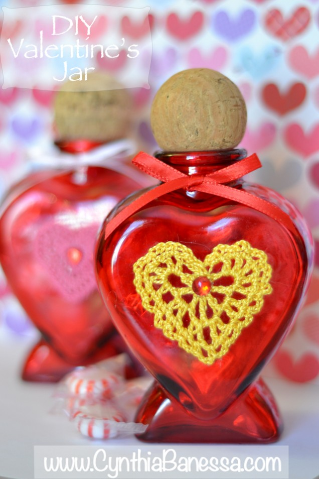 Valentine-Jar-Yellow-Crochet-Heart-