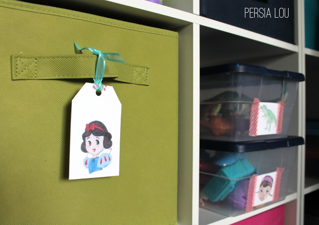 Printable Toy Organization Tags