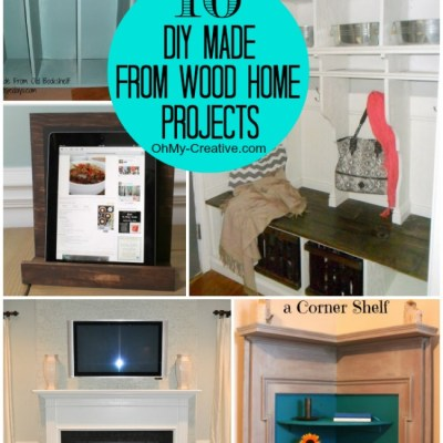10 DIY Made From Wood Home Projects