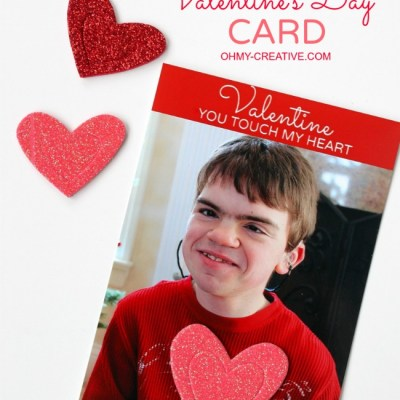 Sensory Valentine's Day Card