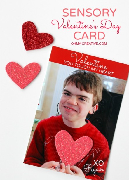 Create a Sensory Valentines Day Card for the kids to touch | OHMY-CREATIVE.COM