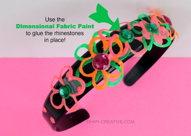 DIY Neon Headband     OHMY-CREATIVE.COM