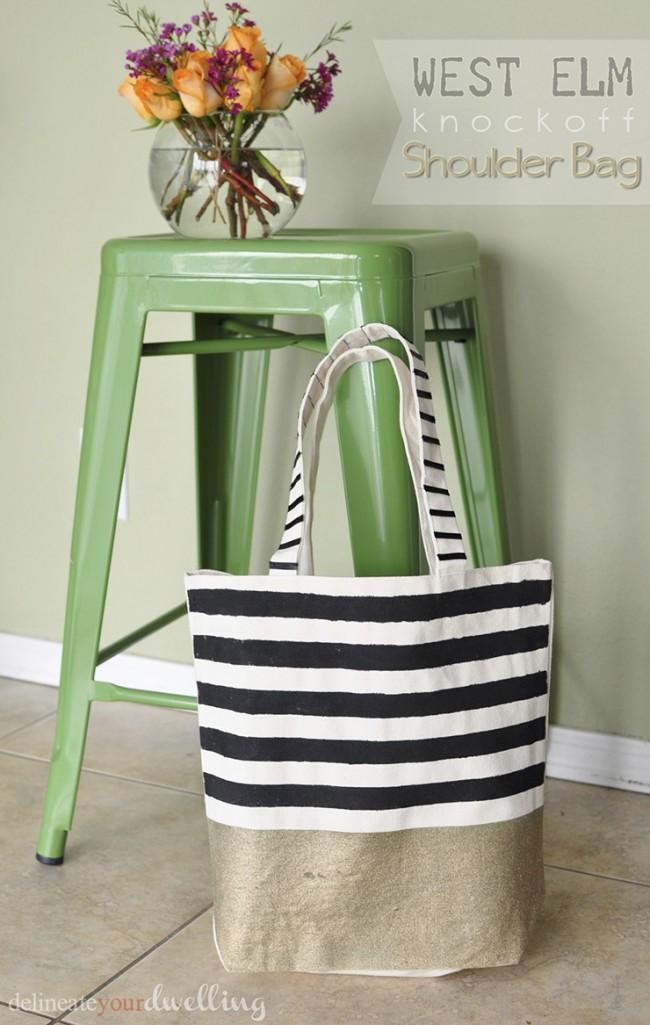 DIY west elm bag