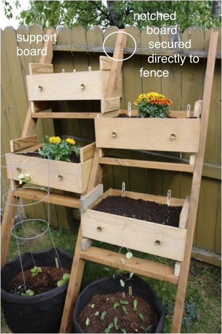 Garden Planter Made From Drawers