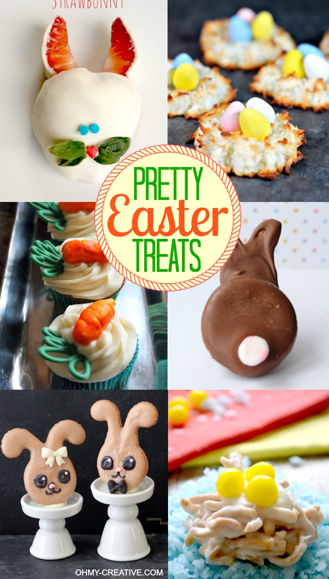 Pretty Easter Treats | OHMY-CREATIVE.COM | Easter Desserts | Easter Dessert Ideas | Easy Easter Desserts | Easter Dessert Recipes