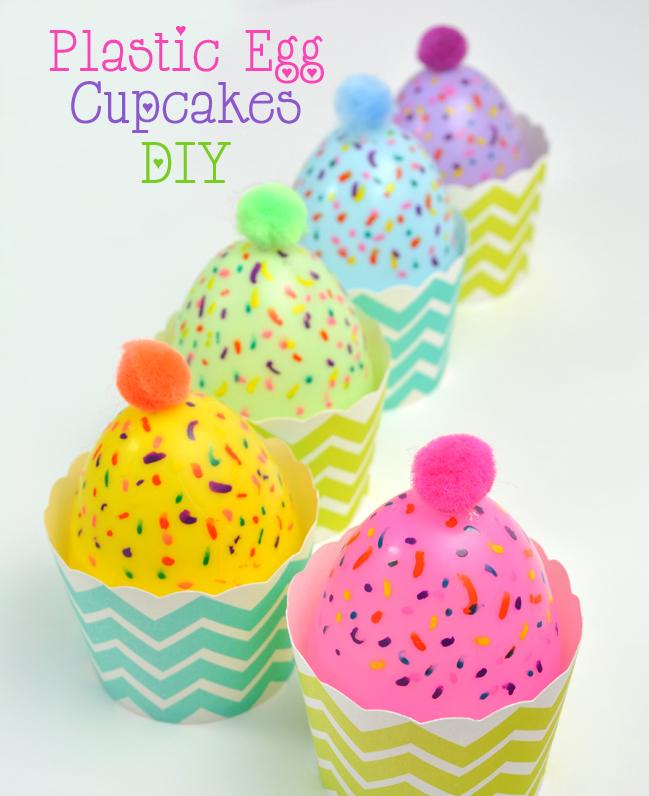 DIY Plastic Egg Cupcakes