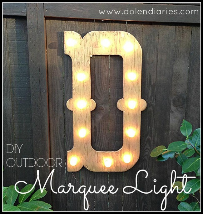diy outdoor marquee letter
