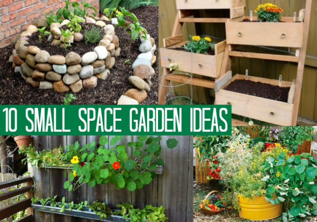 10 Small Space Garden Ideas | OhMy-Creative.com