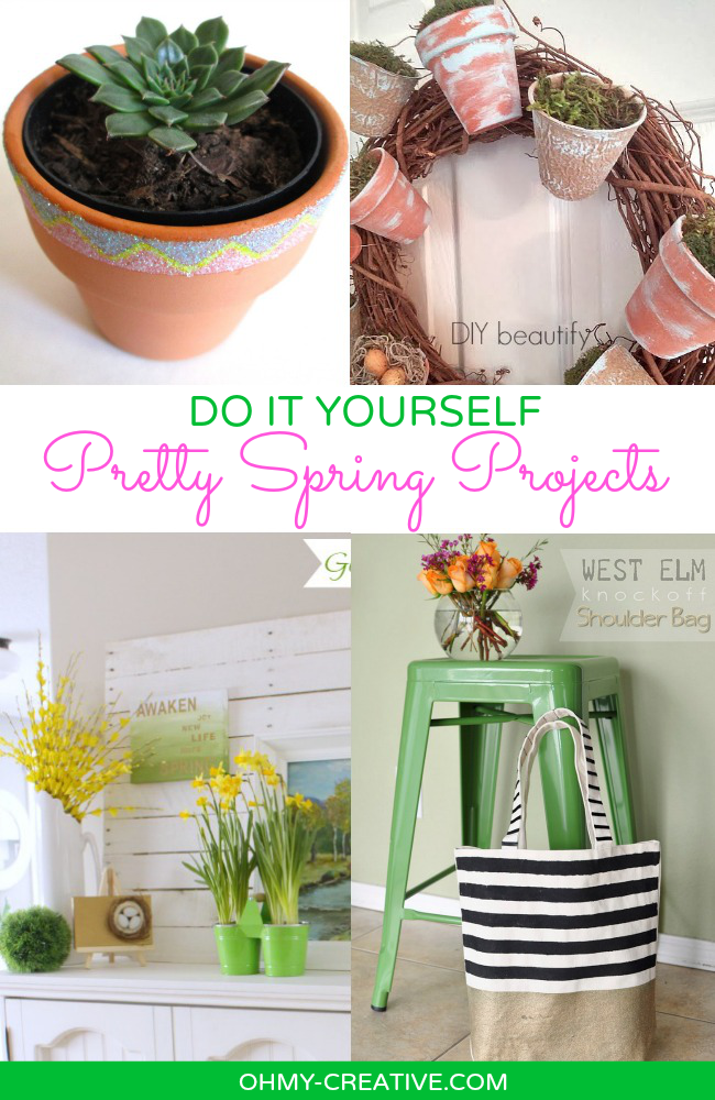 Do It Yourself Pretty Spring Projects  |  OHMY-CREATIVE.COM #DIY #SPRING