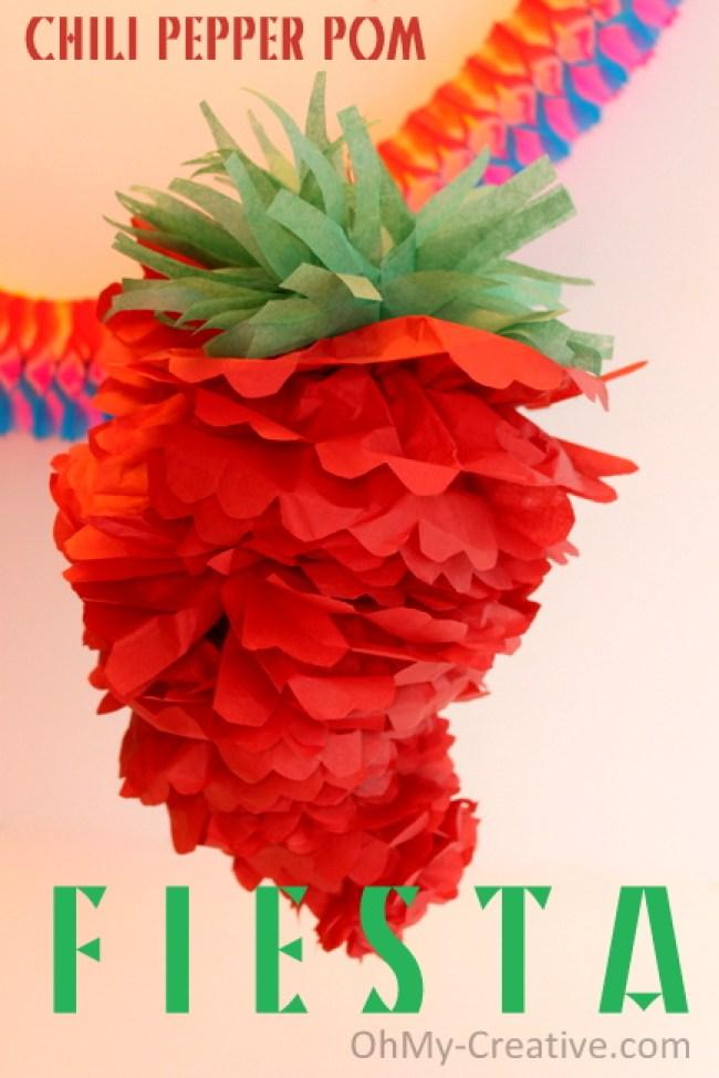 Chili Pepper Party Pom - Cinco de Mayo