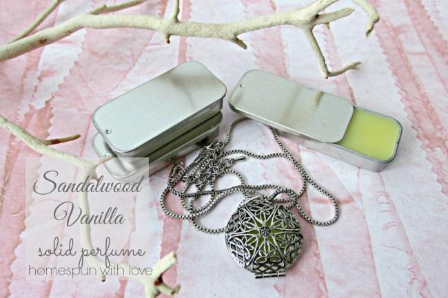 Make Your Own Sandalwood Vanilla Solid Perfume