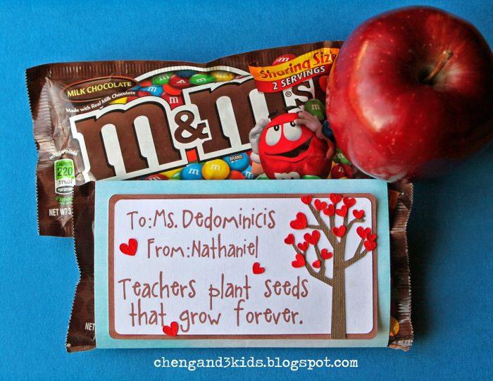 M&M's Teacher Gift