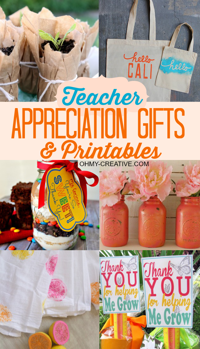 Easy Homemade Teacher Gifts With Printables Oh My Creative