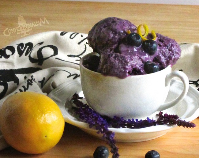 Honey Blueberry Basil Ice Cream Recipe