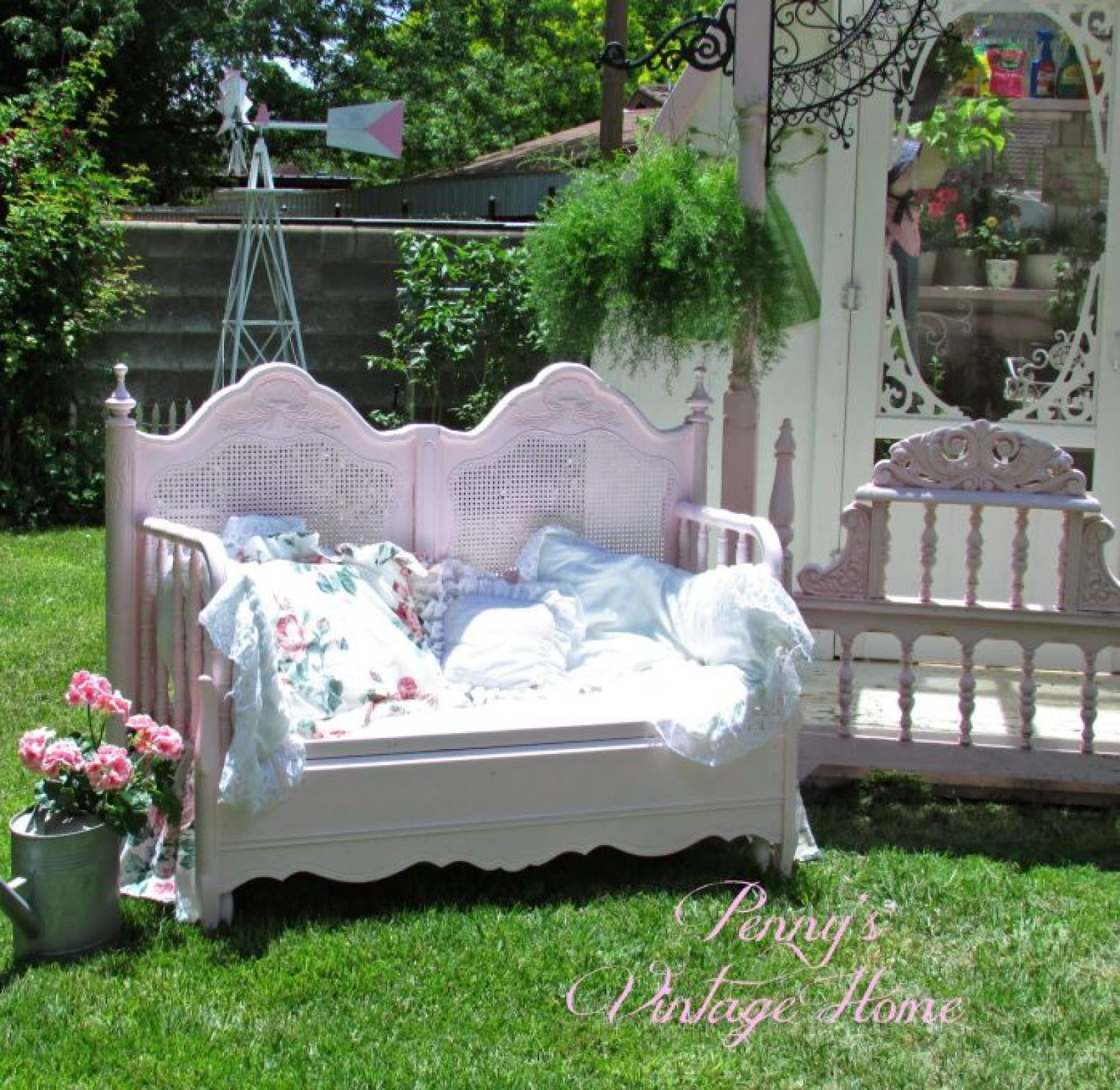 Make a bench from a headboard