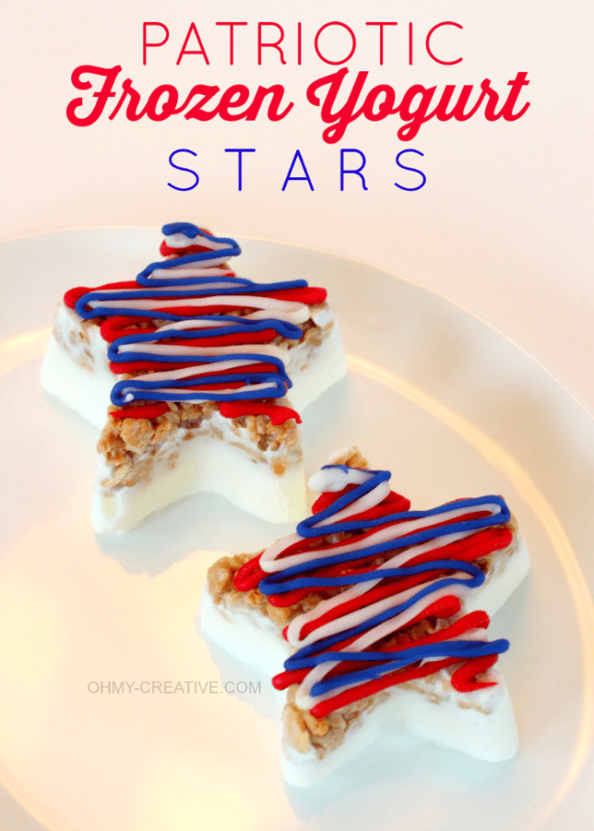 Patriotic Frozen Yogurt Stars | OHMY-CREATIVE.COM