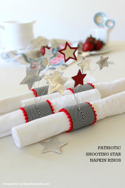 Patriotic Napkin Rings with Stars via homework ~ carolynshomework