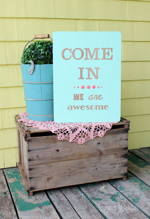 Easy Hand Painted Wood Sign