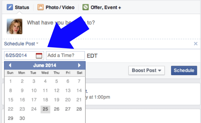 How To Schedule Shares On Facebook - Time saving buisness page tip | OHMY-CREATIVE.COM