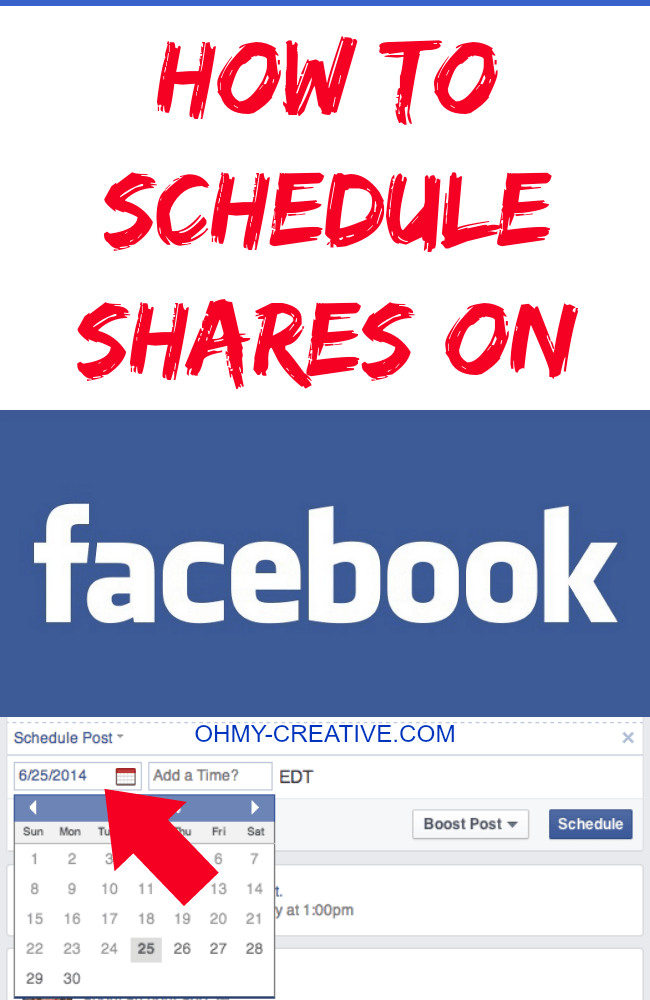 How To Schedule Shares On Facebook