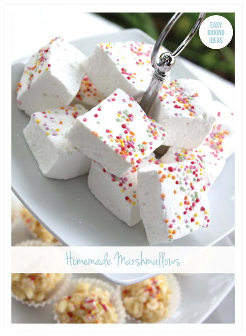 Sprinkle Homemade Marshmellows