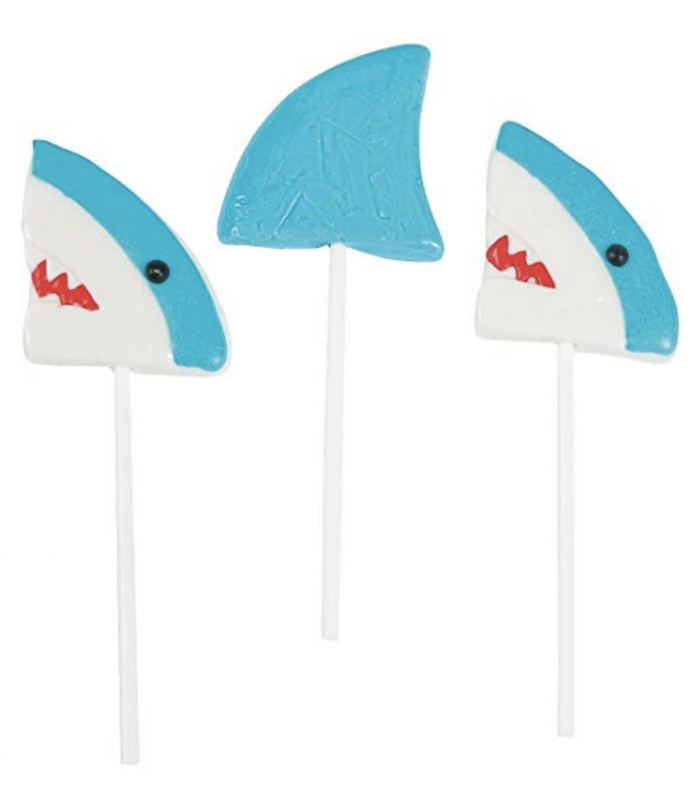 Shark candy - shark lollipops
