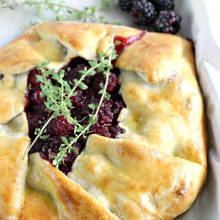 Blackberry Thyme Rustic Pie
