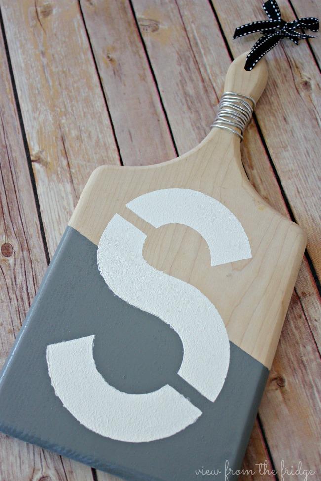 Monogram Cutting Board Art