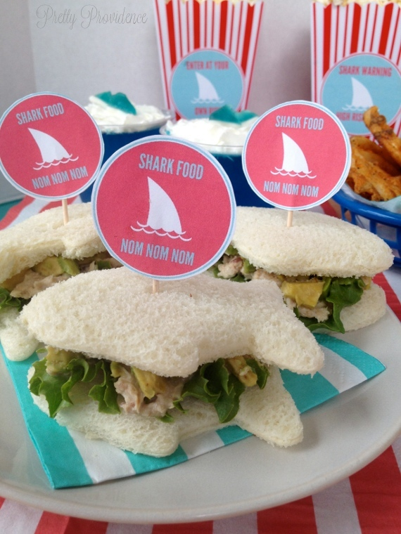 shark sandwich party food