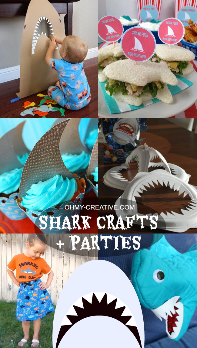 Shark Crafts & Parties | OHMY-CREATIVE.COM