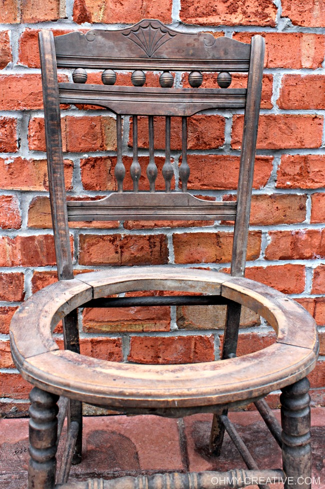 Vintage Chair Drink Stand Oh My Creative