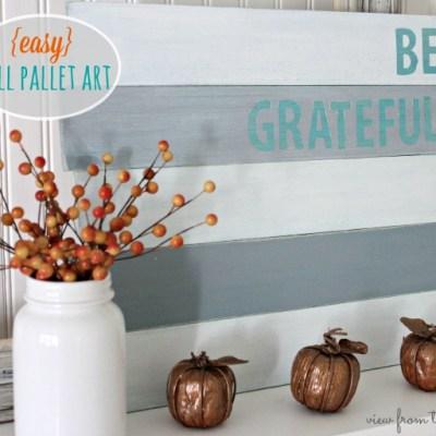 Fall Wood Pallet Art